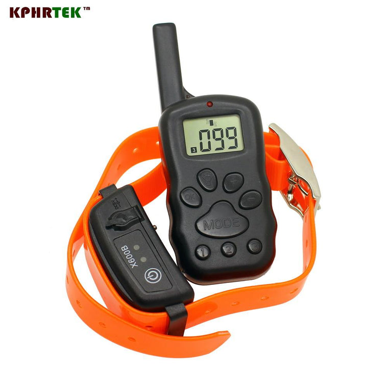100 Level Shock LCD Display Rechargeable And Waterproof Static Vibration Beep Training Collar For 1 Dog