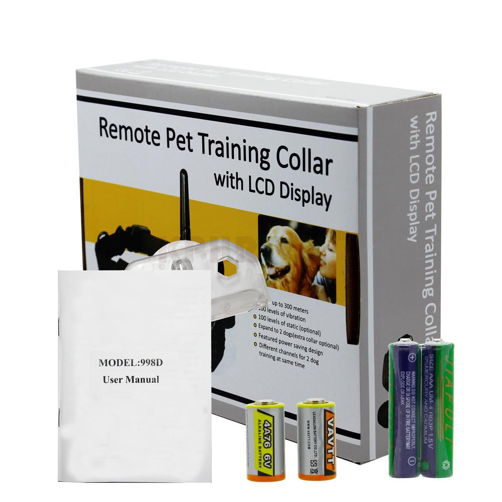 100 Levels LCD Electric Shock Collar 300M Dog Training Remote Control for 1 dog