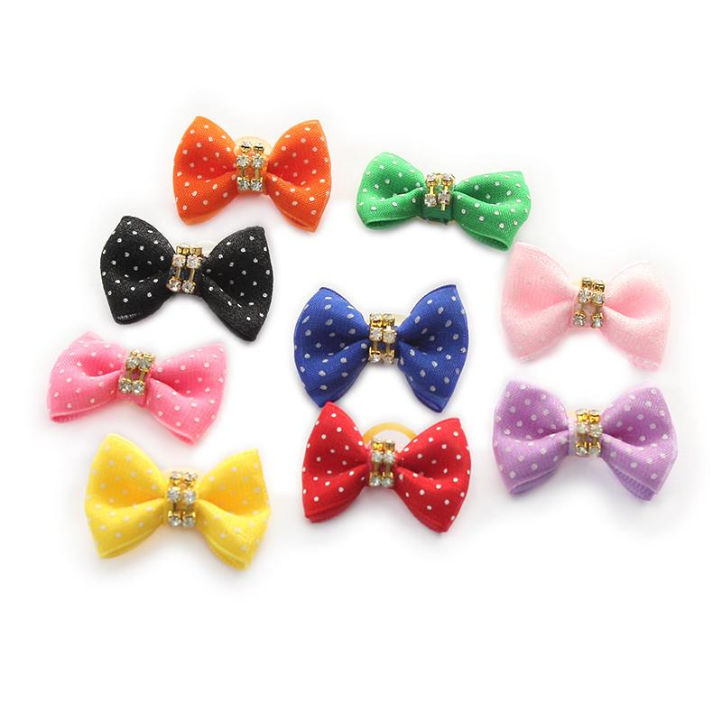 100 Pcs Handmade Accessories  Dog Bow Pet Grooming Bows For Dogs DB21012 Pet Hair Head Flower Supplies Wholesale