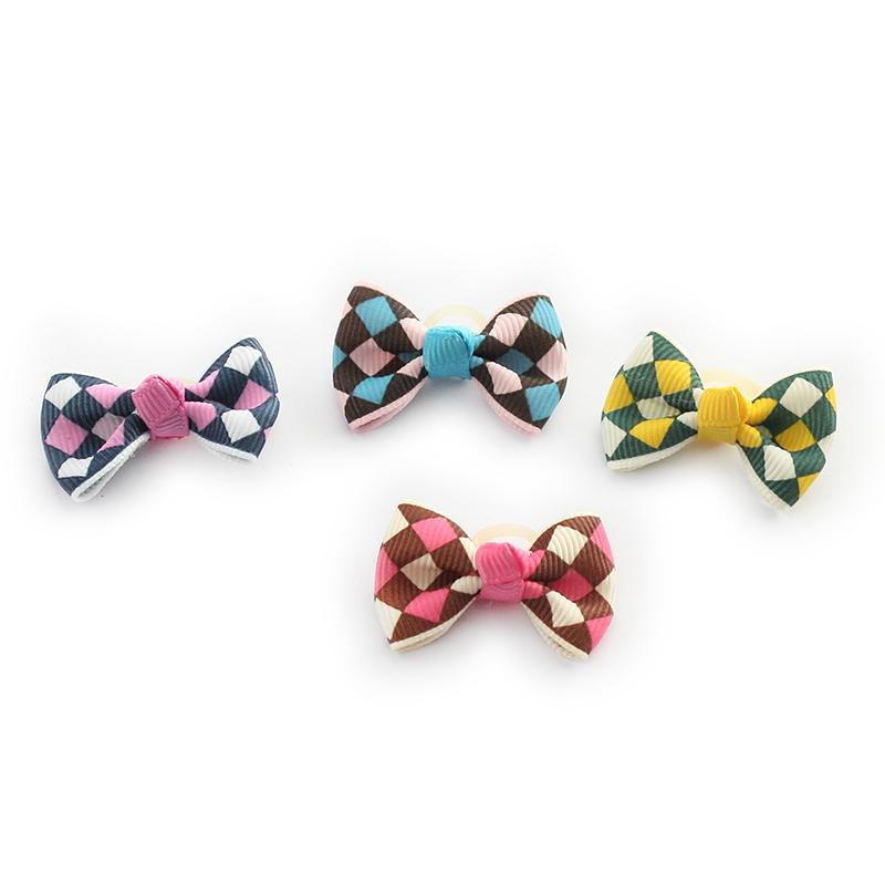 100 Pcs Handmade Accessories Ling-Shaped Pattern Ribbon Dog Bow Grooming Bows For Dogs DB29007 Pet Puppy Supplies Wholesale