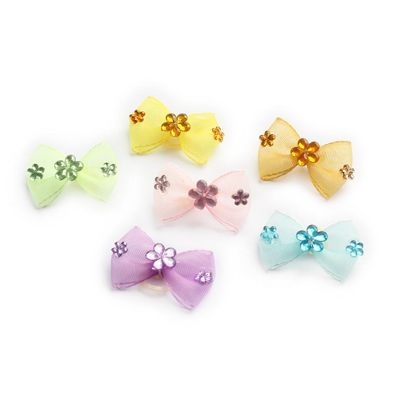 100 Pcs Handmade Accessories  Pet Grooming Bows For Dogs Simple Grid Dog Bow DB29001 Puppy Head Flower Supplies Wholesale