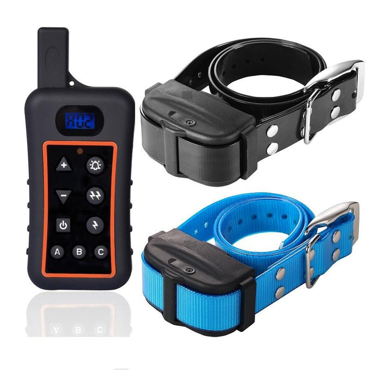 100% Rainproof Rechargeable dog shocker e collar Electronic Remote Dog Training Shock Collar with Beep