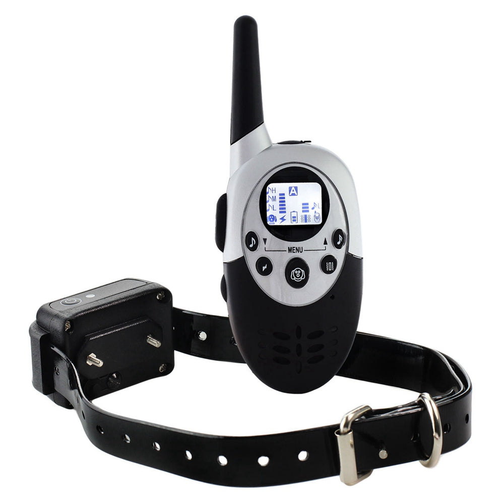 100% Waterproof Dog Training Collar With Remote Rechargeable Electronic Shock Training Anti Bark E-Collar 1100yd Beep Vibration