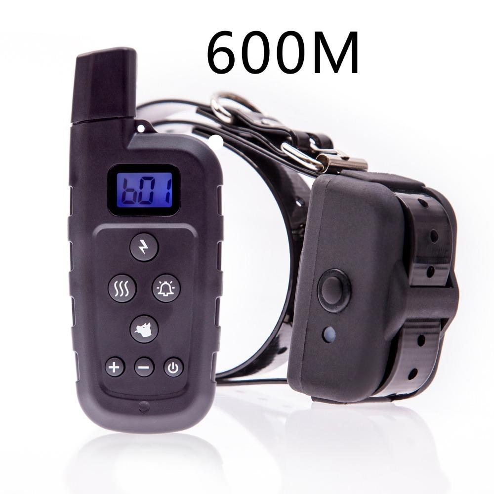 100% Waterproof and Rechargeable Dog Shock Collar 600 yd Remote Dog Training Collar with Beep/Vibra/Shock Electric E-collar