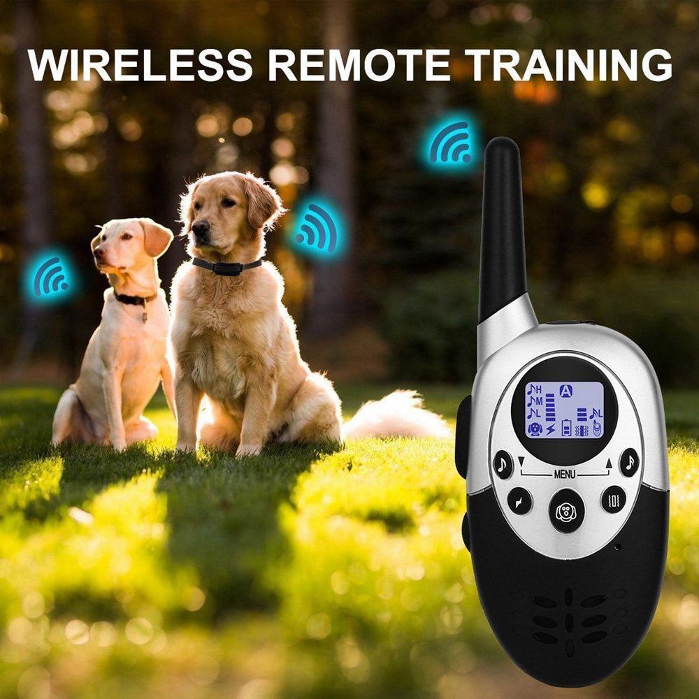 1000 Yard Waterproof Vibra Remote Small Med Large Dog Static Shock Training Collar Electric Pet Dog Training Collar Vibration