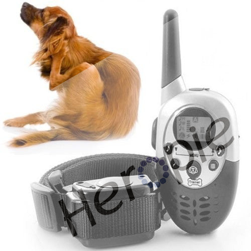 1000M Large Trainers Control Mascotas vibrador anti Waterproof Rechargeable LCD Remote Pet Dog Training Collar Electric Shock