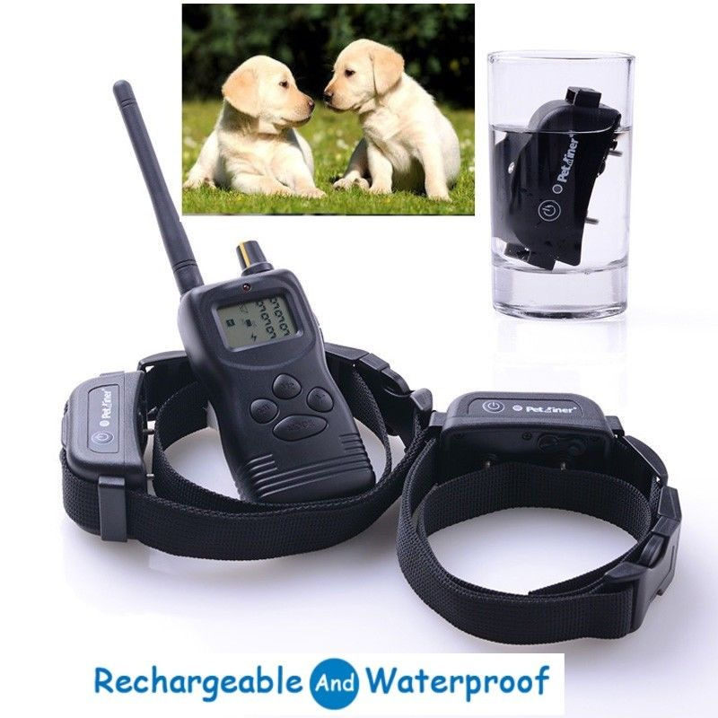 1000M Pet Dog training Collar Pet Rechargeable Waterproof Remote Shock Collars Vibrate & Electric Petrainer PET900B For 1 dog