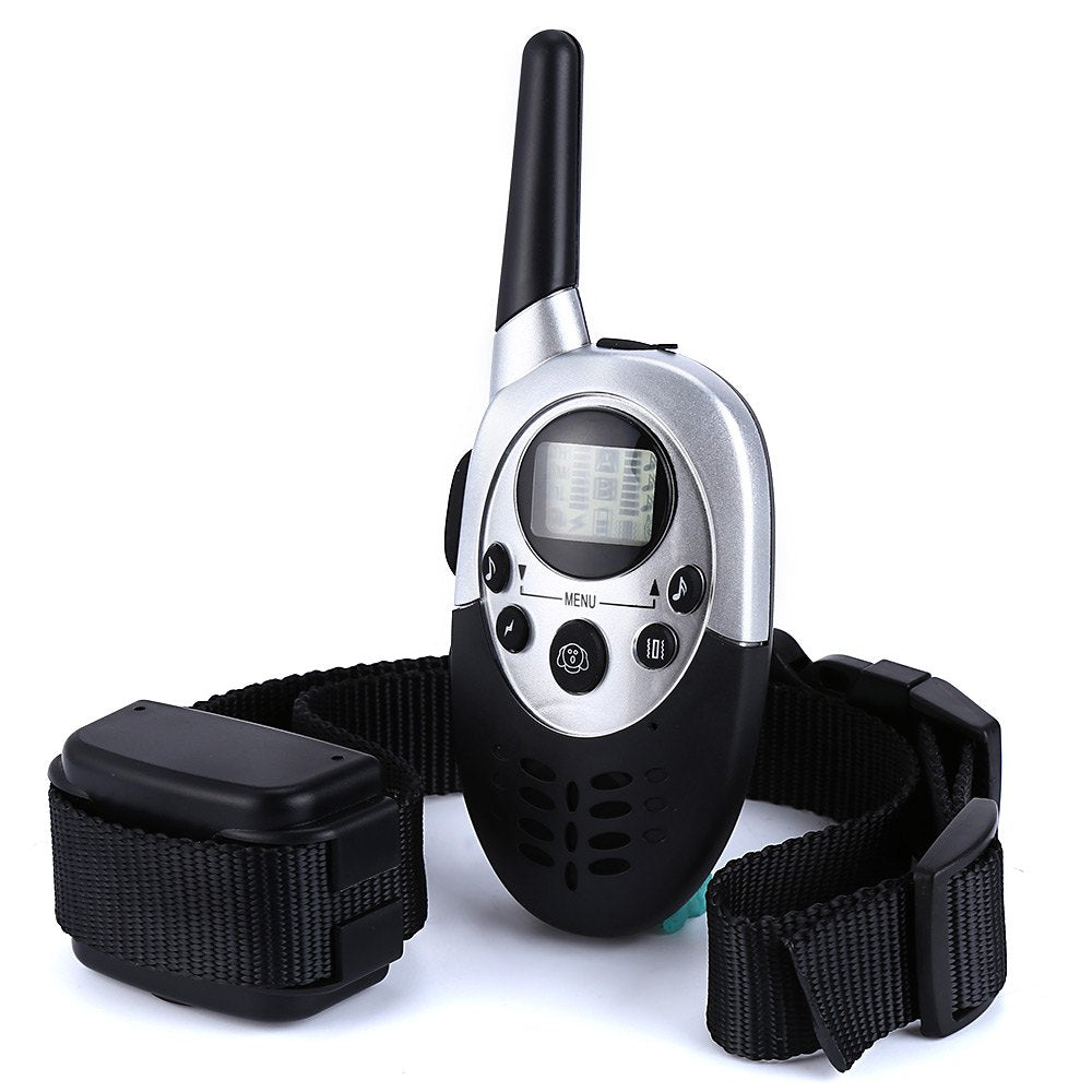 1000M Remote Control Dog Trainer Pets Dog Rechargeable Electric Shock 8 Levels Vibration Anti Bark Training Collar LCD Display