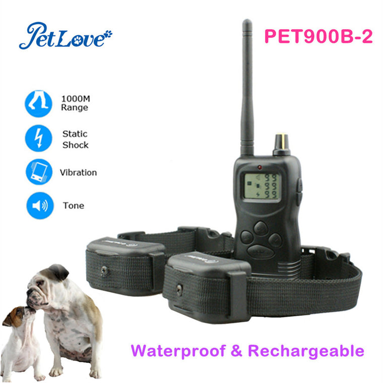 1000M Remote Control Dog Training Collar Rechargeable Waterproof Pet Training Collar Electric Dog Trainer Shock collar