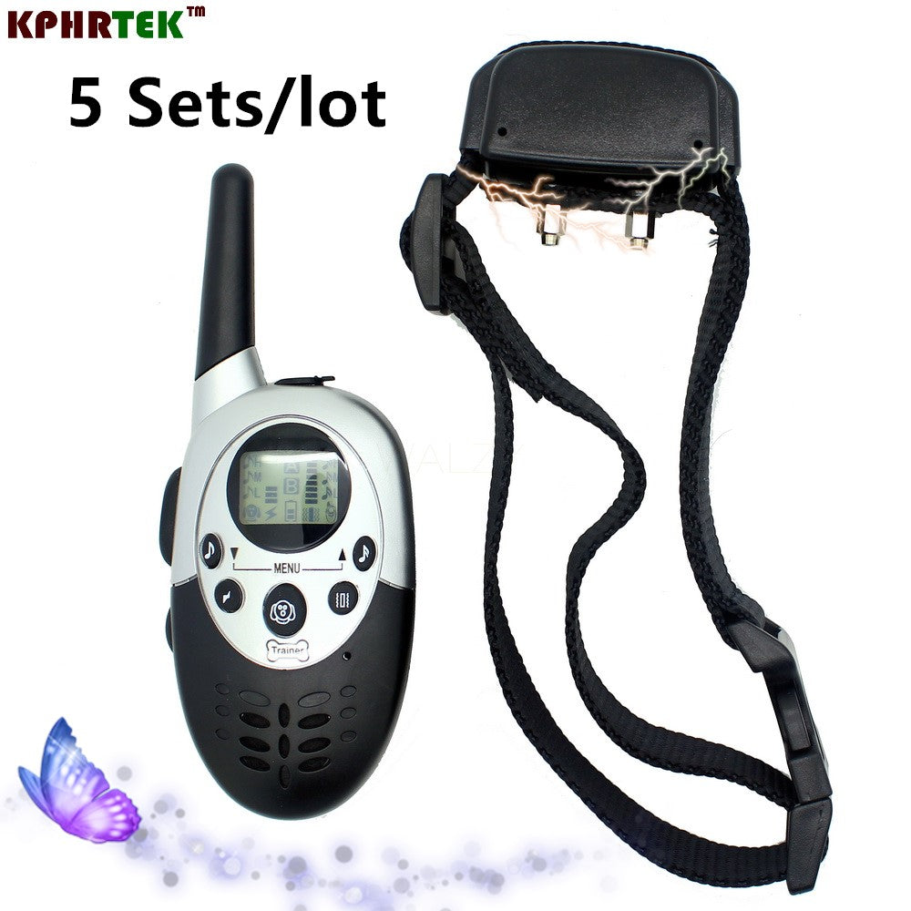 1000M Waterproof Remote Electric Shock Vibrate LCD Pet Dog Training Collar Control 613 For 1 Dog