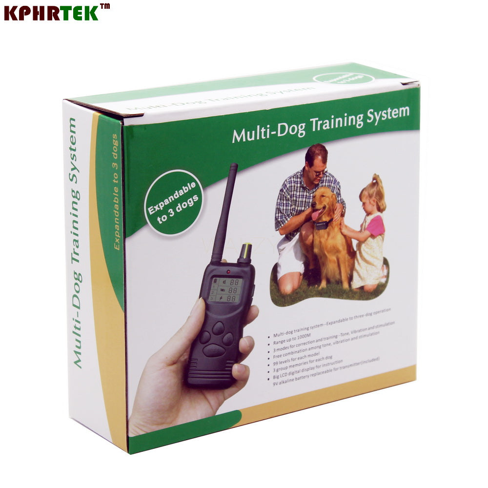 1000m Remote 100 levels Dog Training Collar 900 model can for 3 dogs