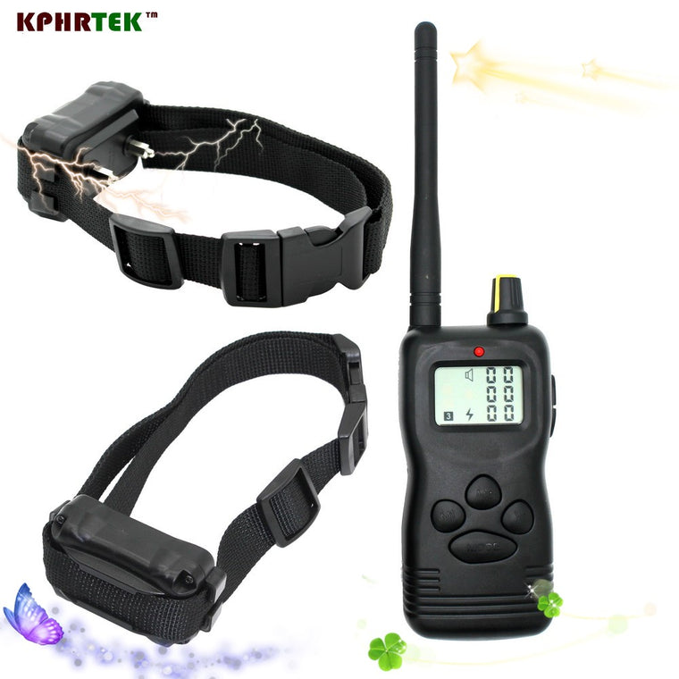 1000m Remote Dog Shock Training Collar With LCD Display