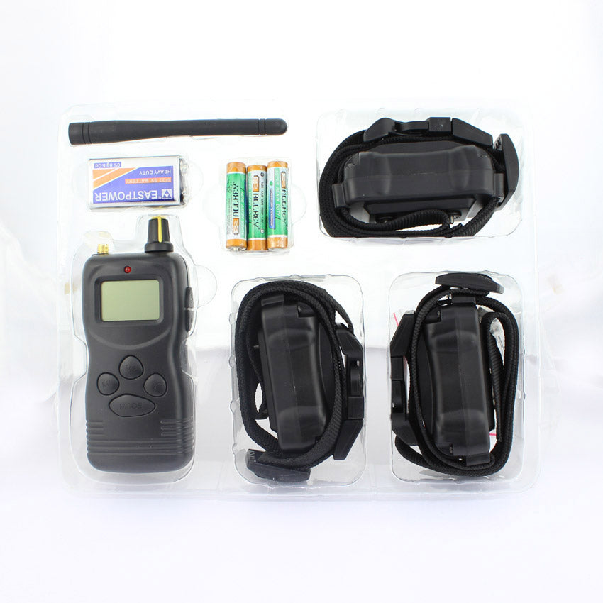 1000m remote dog training collar,Expandable to 3 dogs ,vibration and stimulatiom,1pc/lot with 3 collar for 3 dogs