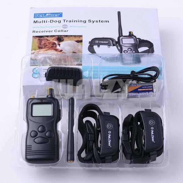 1000meter Remote LCD Pet Training Collar for 2 Dogs Waterproof Collar can swim in the water 36pcs/loT