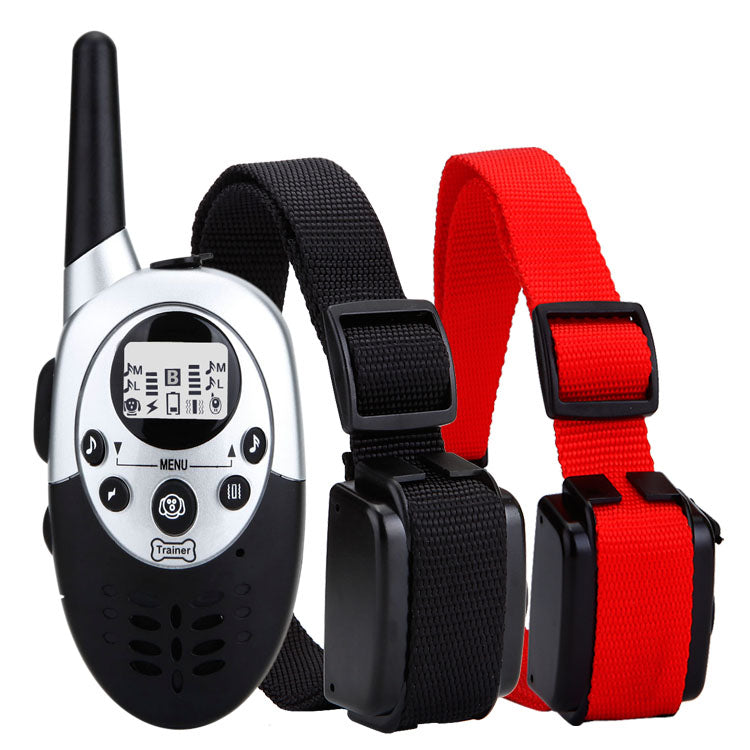 1000meters dog training collar shock collar LCD display waterproof&rechargeable cotrol collar no barking for 2 dogs large dog