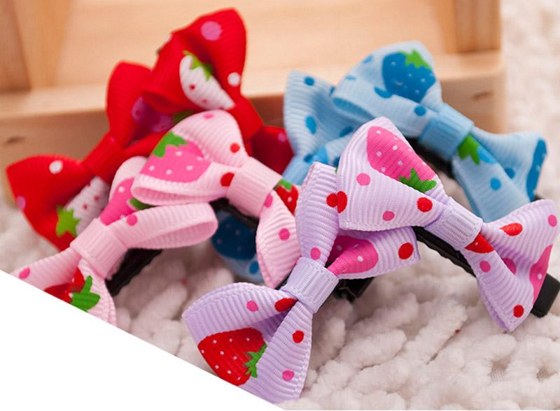1000pcs/lot Cute Pet Dog And Cat Beauty Supplies Bows Hairpin Pet Hair Clips Grooming Accessories free shipping