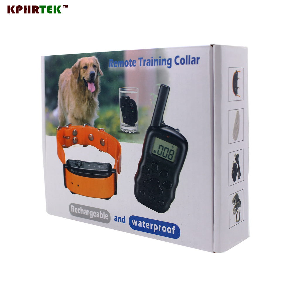 100LV Diving Swimming Rechargeable And Waterproof Electronic Shock Vibra LCD Display Remote Control Pet  Dog Training Collar