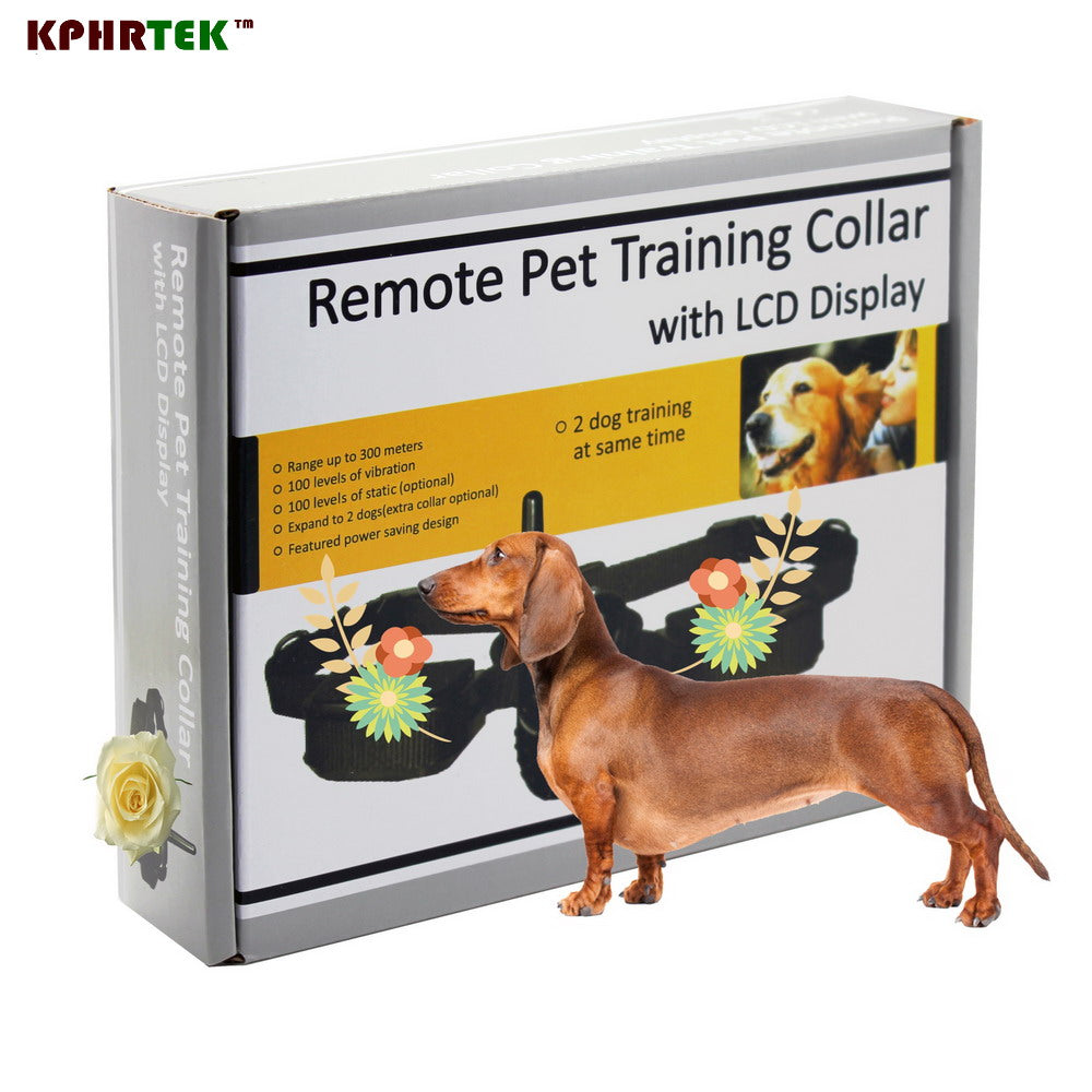 100LV Shock + Vibra remote control Electric Dog Training Collar 998D for1 dog 10pcs/lot Electronic Pet Trainer