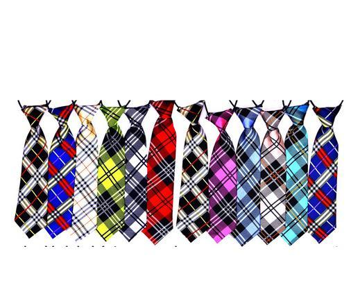 100PC/Lot Plaid Styles Large Dog Neckties For Big Pet Dogs Ties Bow Ties Pet Supplies 12Colors