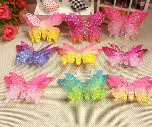 100pc/lot Big sale 2016 butterfly pet dog  hair clips hairpin exquisite hair accessory grooming Supplies mix color H01