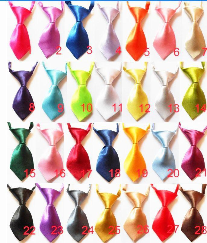 100pc/lot Factory Sale New Solid Color  Handmade Adjustable Dog Ties Pet Bow Ties Cat Neckties Dog Grooming Supplies C01