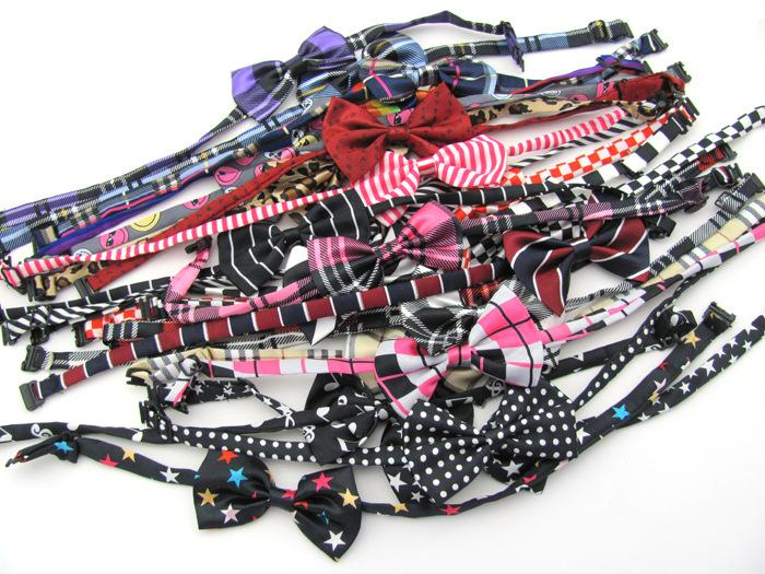 100pc/lot Pet Dog Tie Wedding butterfly Bow Tie Dog Cat personality Bowtie Pet Necktie Adjustable Collar Party tie 30color P9