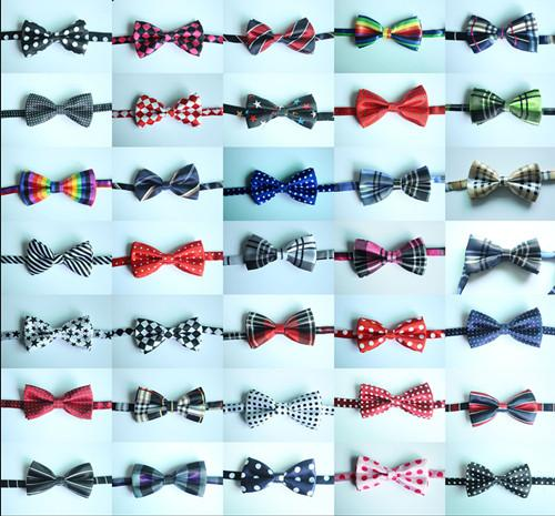 100pcs Various Style Adjustable Dog Pet Tie Bow Thicker Ties Cat Neckties Dog Grooming Supplies