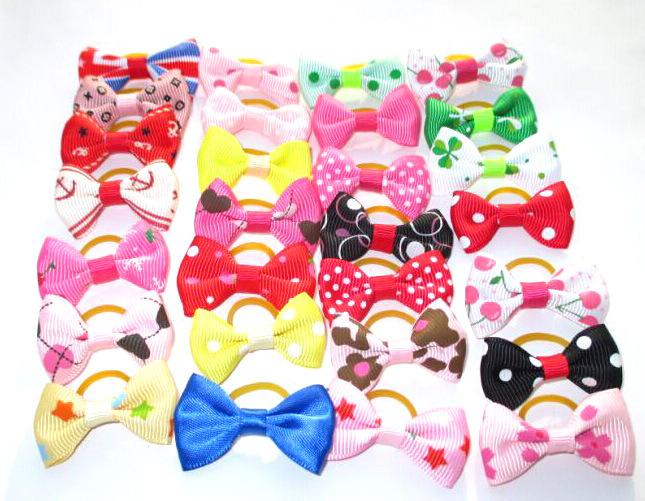 100pcs/lot 2016 Hot sale Pet Dog Hair Bows bowknot hairpin head flower Pet Supplies Grooming  Dog Accessories PB01
