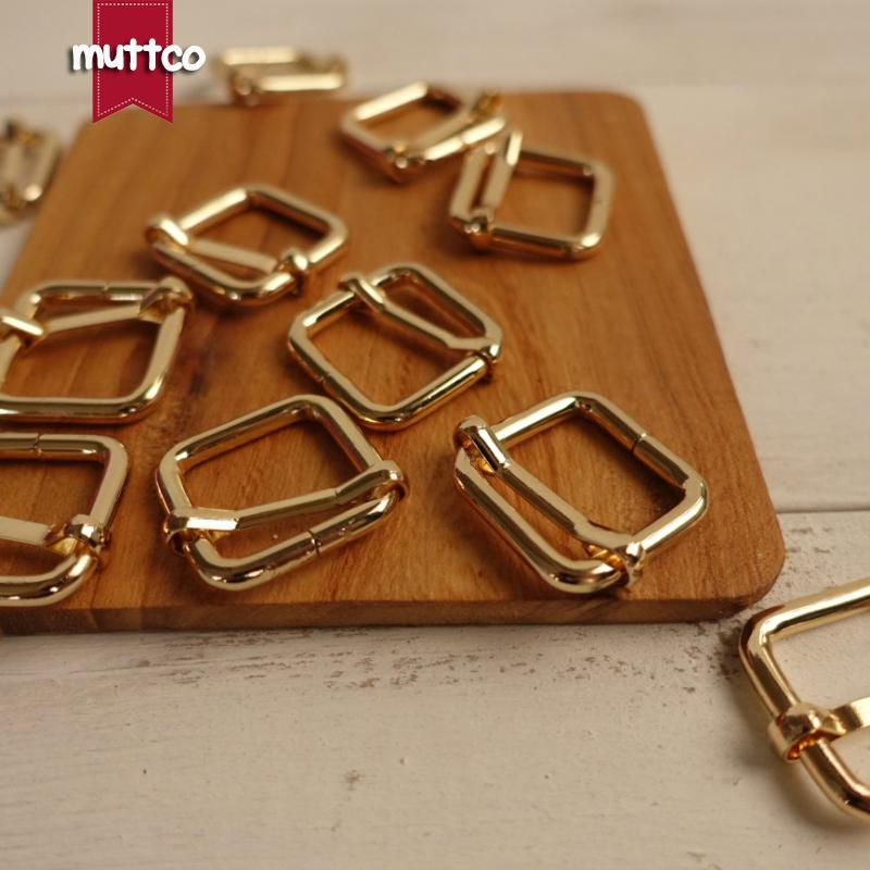100pcs/lot DIY 2.0cm Dog Collar golden metal adjustable buckle suitcase hardware buckle Straps Adjust Buckles Webbing LP-002