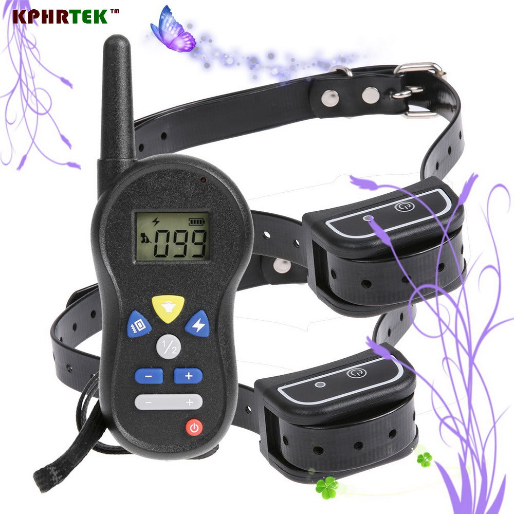 100pcs/lot Rechargeable 500 Meters Remote Electronic Shock Collar for Dog Waterproof Pet Dog Training Collar With LCD Display