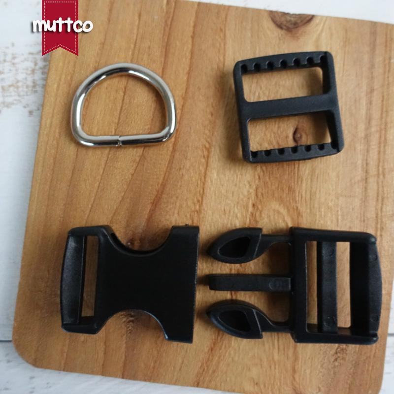 100sets/lot(plastic buckle+adjust buckle+ D ring)DIY Dog Collar black 2.5cm diy emboitement plastic buckle adjust buckle TZP-002