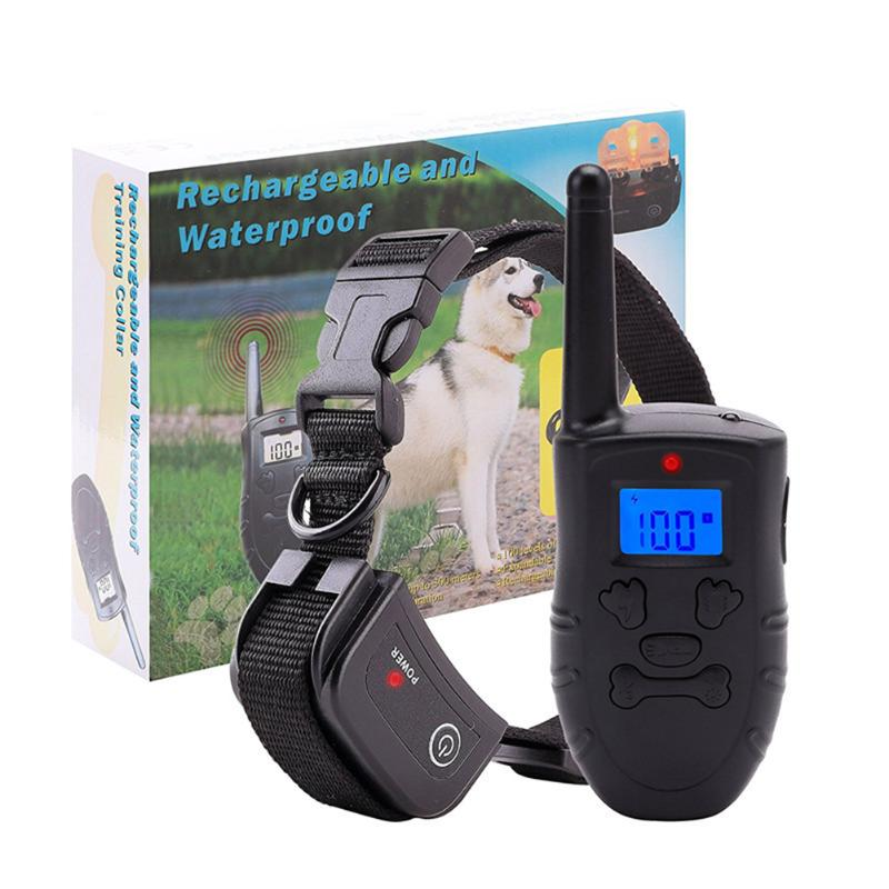 10M Waterproof Dog Diving Training Collar 500M Remote Control Pet Training Electric Shock Vibration Collar USB Rechargeable LCD
