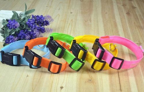 10PCS/LOT Wholesale Pet Products Dog Supplies Cat Collar LED Dog Collar  Cute Hot Sale Good Quality