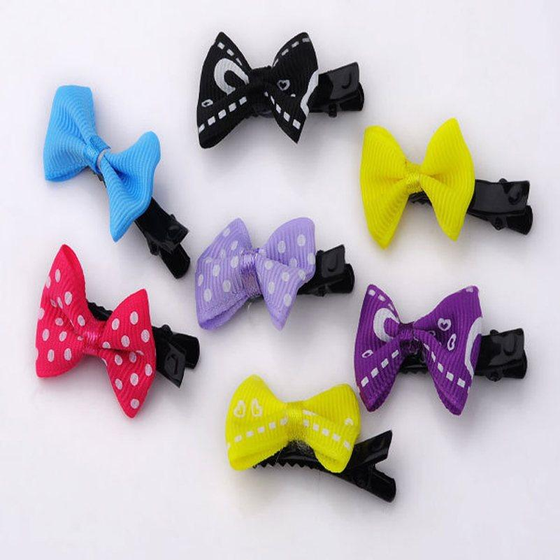 10pcs Dog Cat Puppy Hair Bows Ribbon Wholesale Hairpin Flower Pets Hair Accessories New Gift