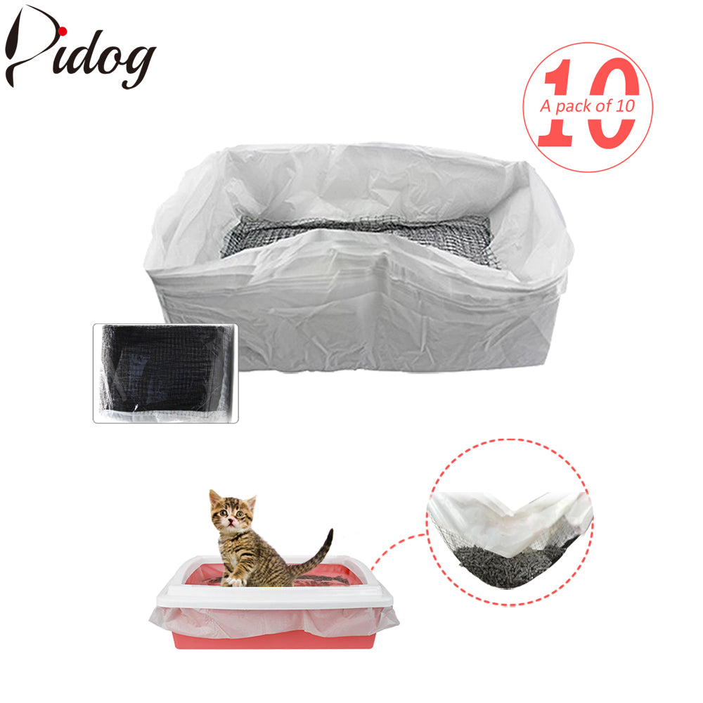 10pcs/lot Cat Litter Tray Liners Reusable Kitten Hygienic Litter Box Scoop Liners Hands Free Elastic Cats Sifting Feces Filter