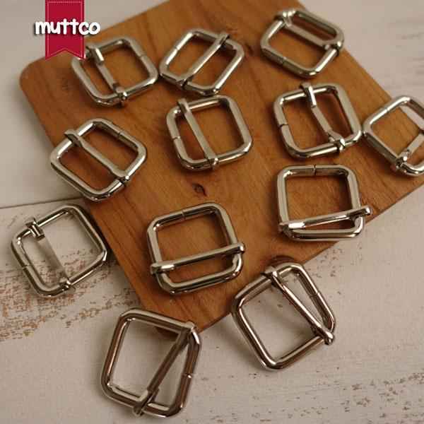 10pcs/lot DIY Dog Collar 2.0cm Silver metal adjustable buckle suitcase Ribbon slip buckle suspender hardware buckle LP-001