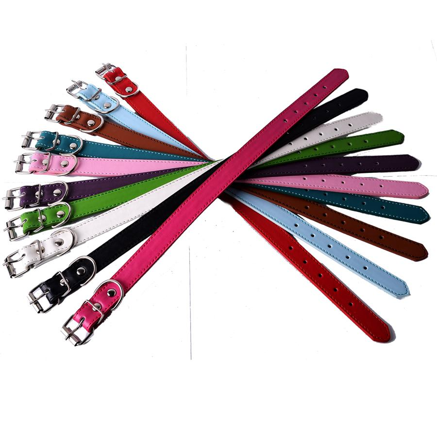 10pcs/lot Pet Dog Health Supplies Wholesale Pu Leather Dog Collar Mixed Colors Random Collars For Dogs