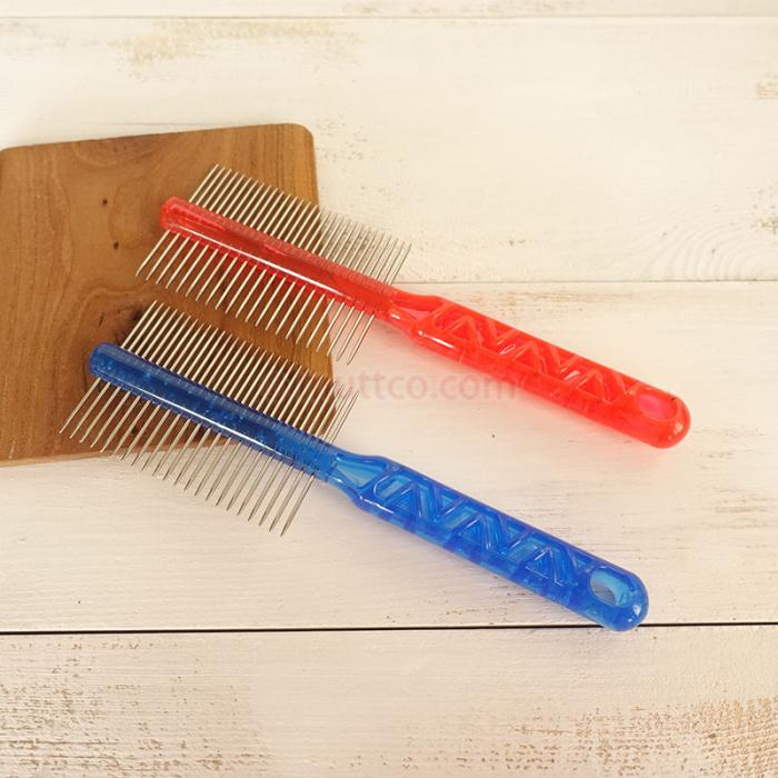 10pcs/lot wholesale practical metal comb for cleaning dogs' hair 2 sides dog comb DCO-A010