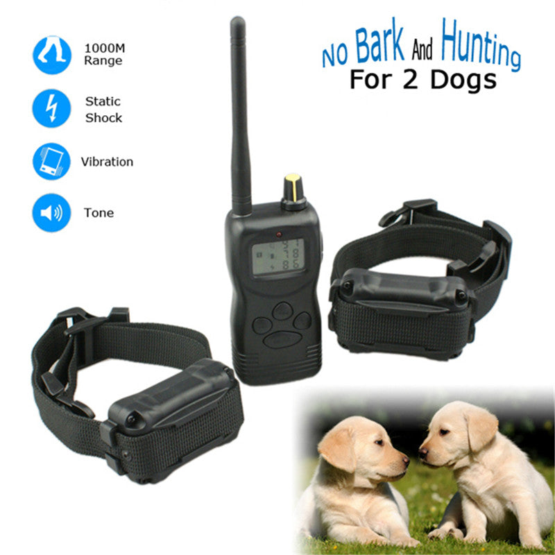 10set/lot*LCD Display Dog training Collar Shock+Vibra+Electric With Remote 1000m Range 99LV With Vibration Trainer E-Collar
