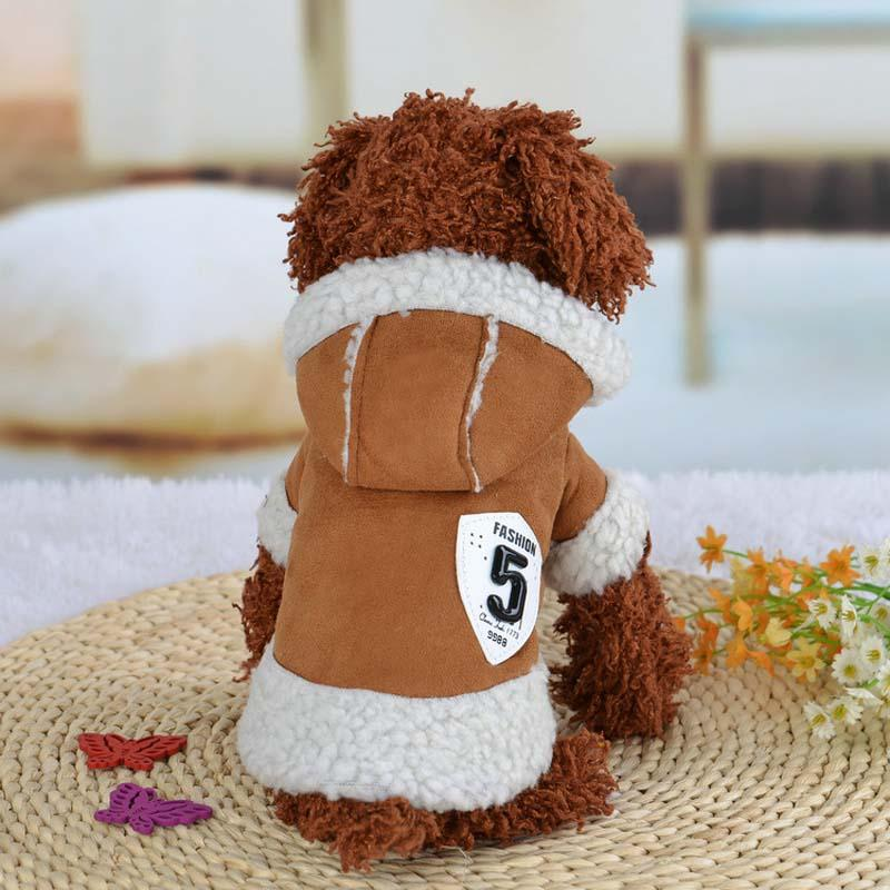 11.11 Winter Warm Dog Coat Jacket Small Dog Puppy Clothes Hoody Wool Sweater Solid Poodle Chihuahua Teddy Cat Apparel