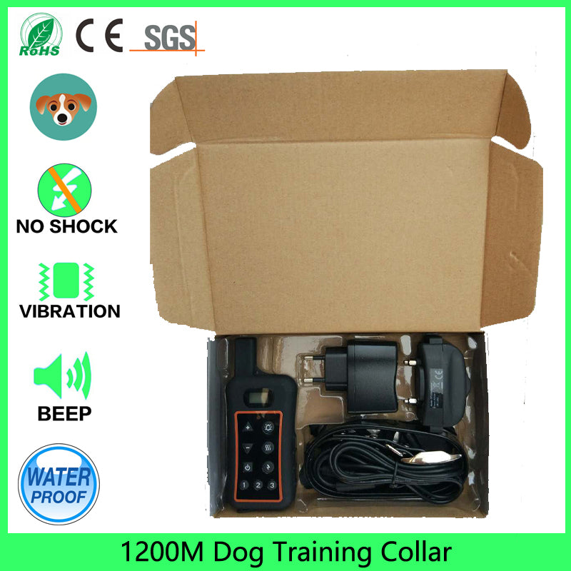 1200m Dog Training Collar 1 For 3 Rechargeable Dogs Training Collars With Electric Shock or shock Individual Vibration