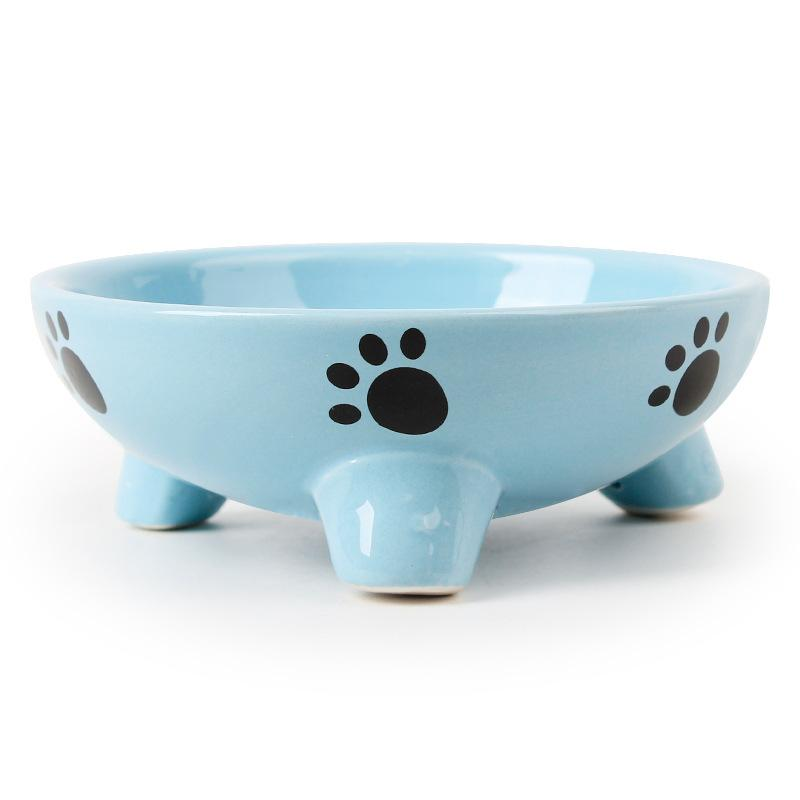 12X4.5cm Pet Dog Cat Bowl Puppy Kitten Ceramics Bowl Anti Slip Cats Puppy Travel Feeding Feeder Food and Water Dish Bowl
