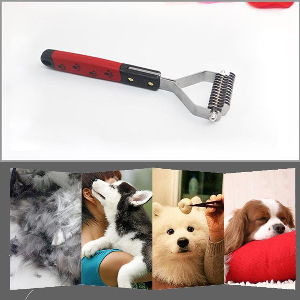 13/18 Cutter Pet Rakes Fur Knot Cutter Grooming Shedding Brush Comb Rake Pet Dog Cat Long Short Hair Metal Blade Pet Supplies