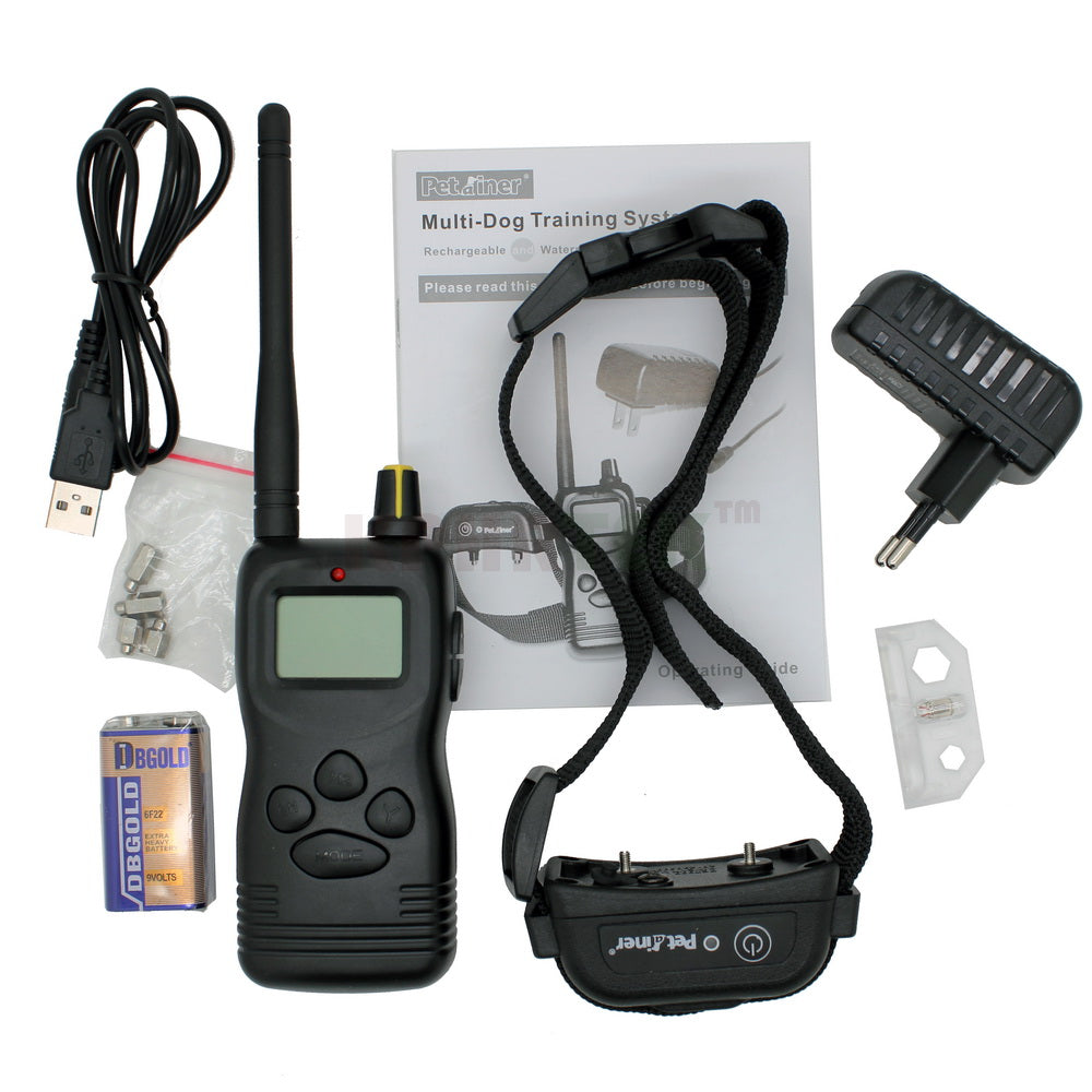16pcs 1000M Remote  LCD Multi-Dog Control Dog Training Collar System Rechargeable and Waterproof Collar Receiver 900B
