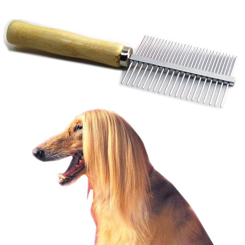 17.5*5cm Dog Brush Multi-use Stainless Steel Pin Brush Comb For Dogs Cats Long Hairbrush Dog Grooming Tool Wholesale noDC19