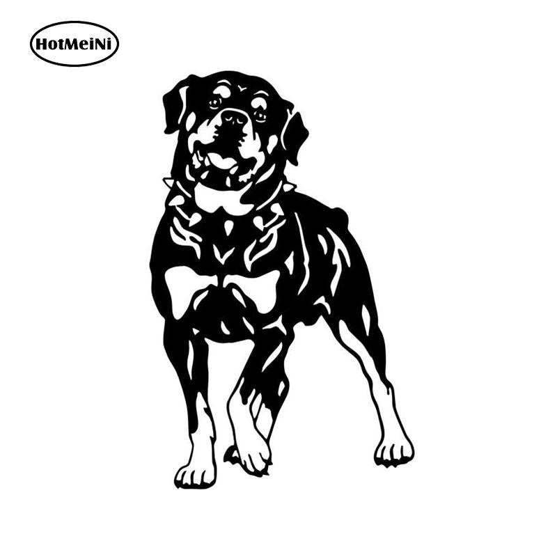 18*11.4CM Rottweiler Dog Car Stickers Personality Vinyl Decal Car Styling Truck Decoration LM-6210