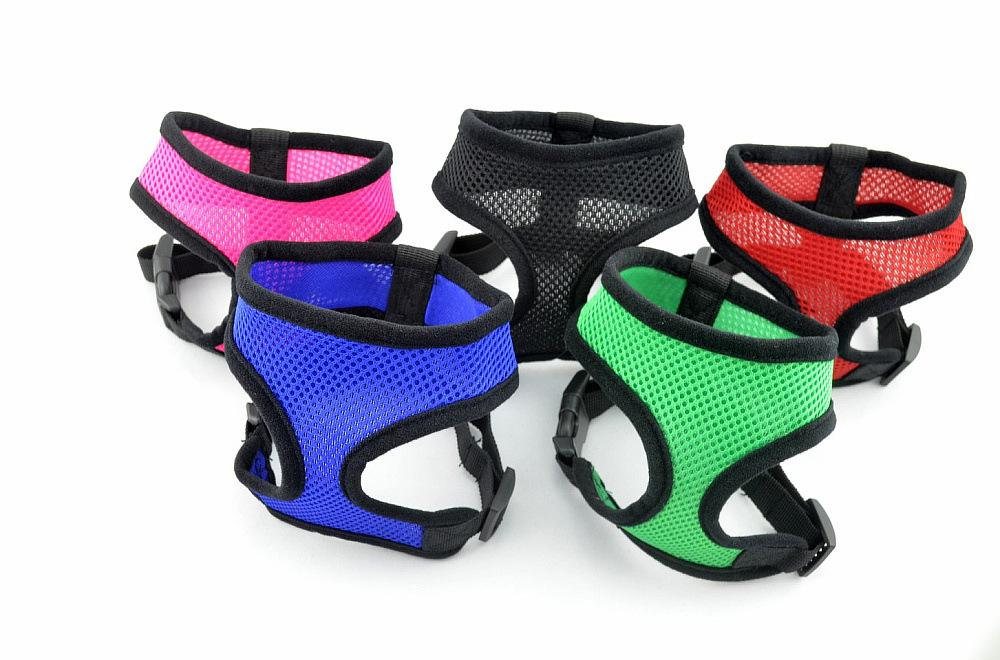 1PC Adjustable Breathable Puppy Dog Harness Nylon Mesh Vest Harness Cat Chest Strap Leash Teddy Yorkie Neck Collors Pet Supplies