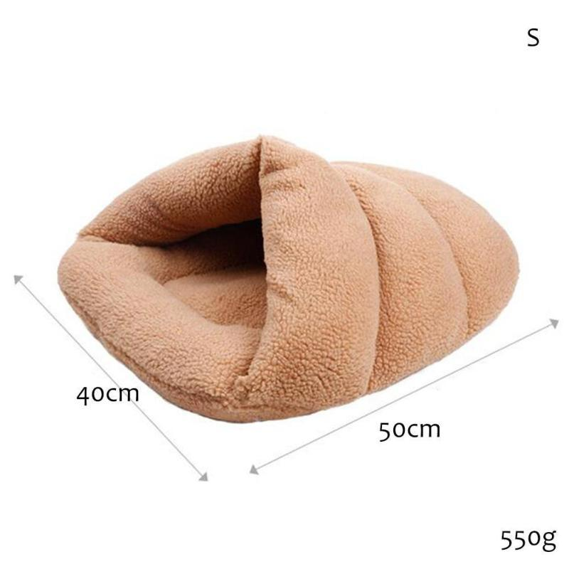 1PC Comfortable Pet Cat Bed Soft Cat Little Dog House Sleeping Bag Pet Fossa Small Teddy Kennel Puppy Cat Nest Pet House V3