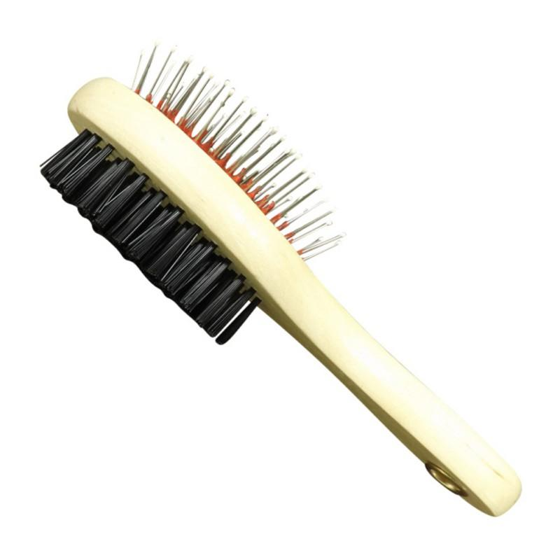 1PC Double Faced Pet Dog Comb Long Hair Brush Plastic Handle Puppy Cat Massage Bath Brush Multifunction Pet Grooming Tool
