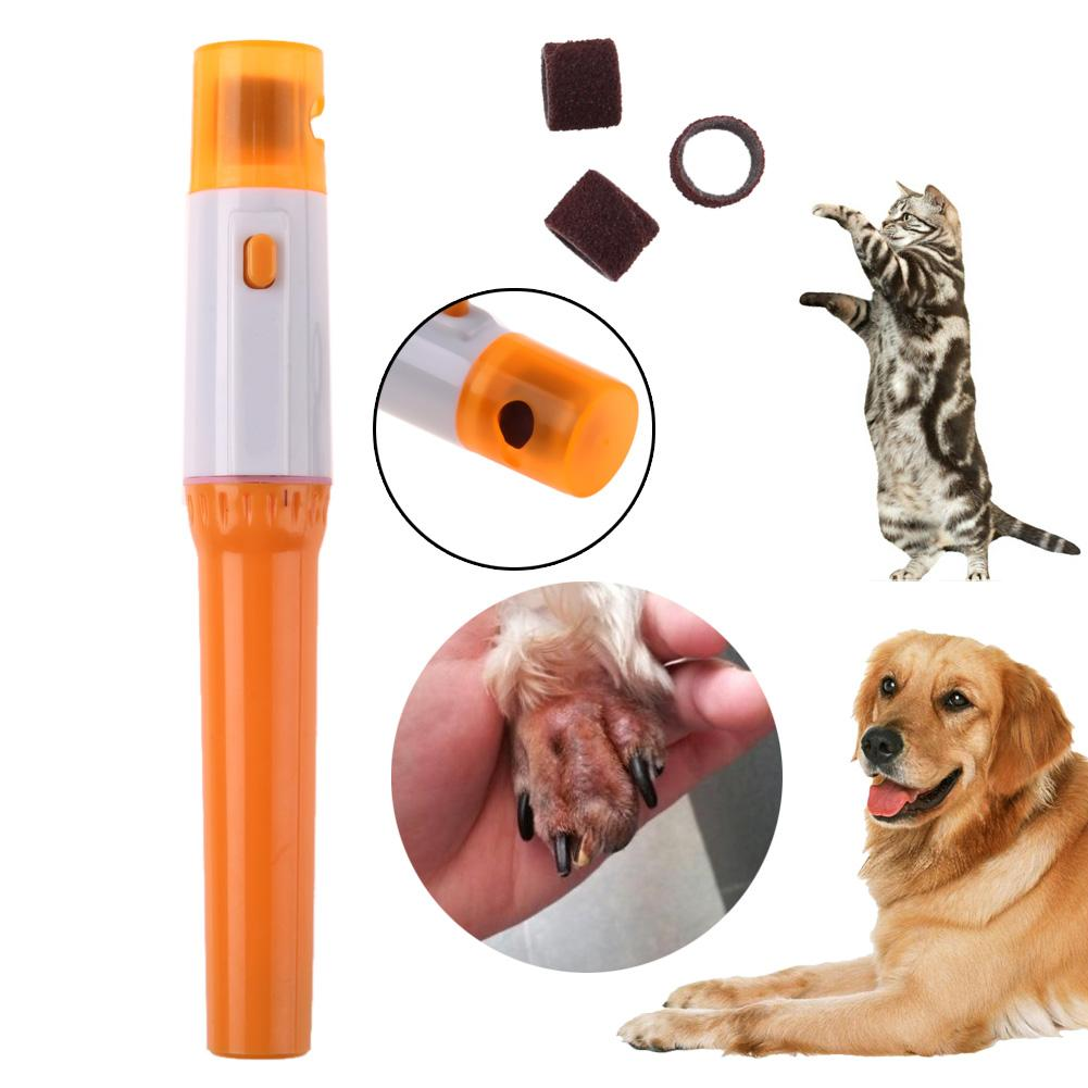 1PC Pedicure Tool Care Automatic Pet Grinder File Electric Pet Dog Puppy Cat Paw Claw Toe Nail Grinder Grooming Trimmer Clipper
